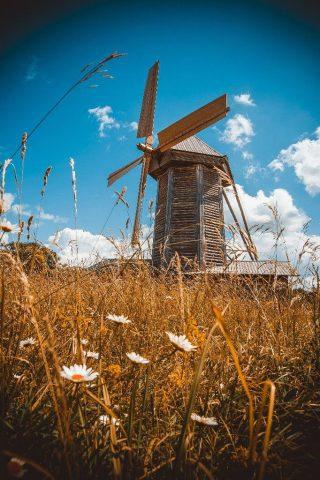3 октября начинали работать ветряные мельницы.