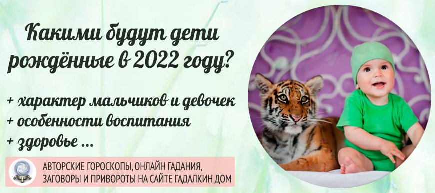 какими будут дети, рождённые в 2022 году Тигра