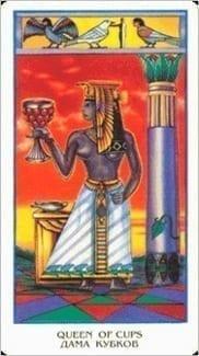 Карта Королева Чаш из колоды Египетское Таро