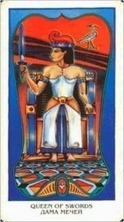 Карта Королева Мечей из колоды Египетское Таро