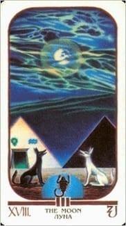 Карта Луна из колоды Египетское Таро