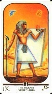 Карта Отшельник из колоды Египетское Таро