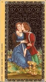 Карта Двойка Чаш из колоды Флорентийское Таро