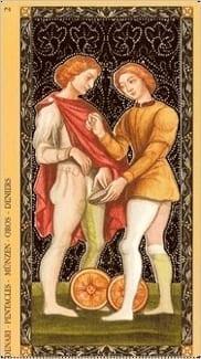 Карта Двойка Пентаклей из колоды Флорентийское Таро