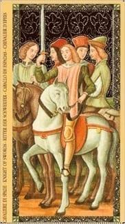 Карта Рыцарь Мечей из колоды Флорентийское Таро