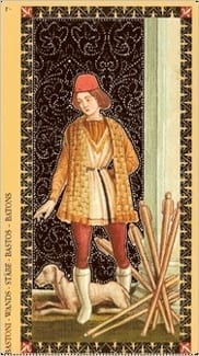 Карта Семерка Жезлов из колоды Флорентийское Таро