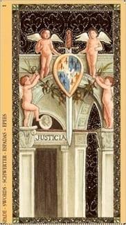 Карта Туз Мечей из колоды Флорентийское Таро