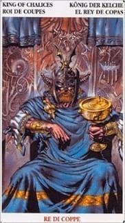 Карта Король Чаш из колоды Кельсткое Таро