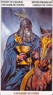 Карта Рыцарь Чаш из колоды Кельсткое Таро