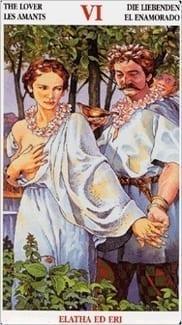 Карта Влюбленные из колоды Кельсткое Таро