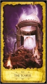 Карта Башня из колоды Мистическое Таро Мечтателя