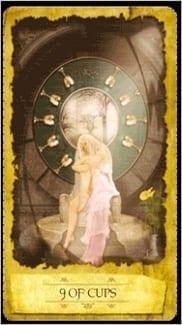 Карта Девятка Чаш из колоды Мистическое Таро Мечтателя