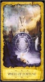 Карта Колесо Фортуны из колоды Мистическое Таро Мечтателя