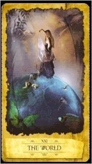 Карта Карта Мир из колоды Мистическое Таро Мечтателя