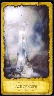 Карта Туз Чаш из колоды Мистическое Таро Мечтателя