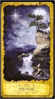 Карта Звезда из колоды Мистическое Таро Мечтателя