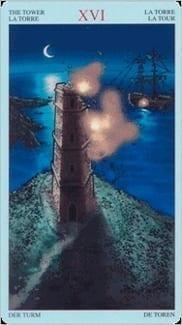 Карта Башня из колоды Пиратское Таро