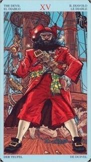 Карта Дьявол из колоды Пиратское Таро