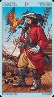 Карта Император из колоды Пиратское Таро