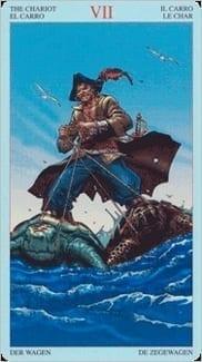 Карта Колесница из колоды Пиратское Таро