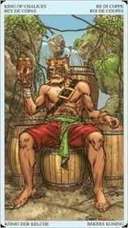 Карта Король Чаш из колоды Пиратское Таро