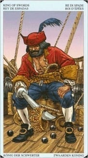 Карта Король Мечей из колоды Пиратское Таро