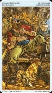 Карта Король Пентаклей из колоды Пиратское Таро