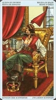 Карта Королева Мечей из колоды Пиратское Таро