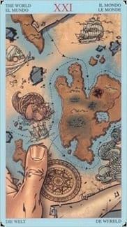 Карта Мир из колоды Пиратское Таро