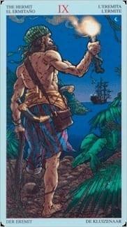 Карта Отшельник из колоды Пиратское Таро