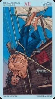 Карта Повешенный из колоды Пиратское Таро