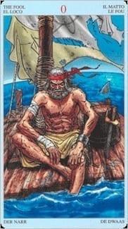 Карта Шут (Дурак) из колоды Пиратское Таро