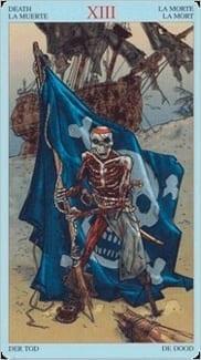 Карта Смерть из колоды Пиратское Таро