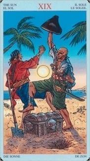 Карта Солнце из колоды Пиратское Таро