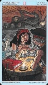 Карта Жрица (Папесса) из колоды Пиратское Таро
