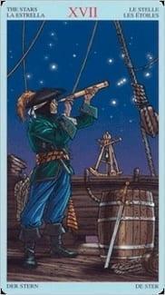 Карта Звезда из колоды Пиратское Таро