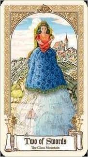 Карта Двойка Мечей из колоды Сказочное Таро