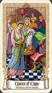 Карта Королева Чаш из колоды Сказочное Таро