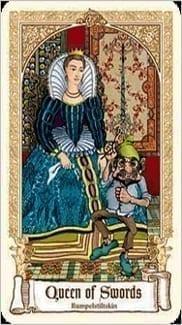Карта Королева Мечей из колоды Сказочное Таро