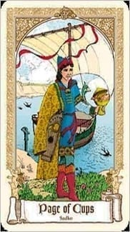Карта Паж Чаш (Кубков) из колоды Сказочное Таро