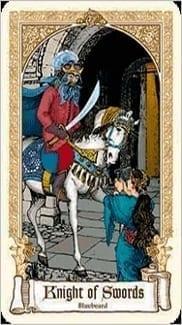 Карта Рыцарь Мечей из колоды Сказочное Таро