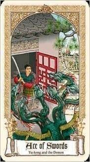 Карта Туз Мечей из колоды Сказочное Таро