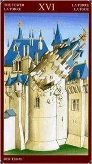 Карта Башня из колоды Средневековое Таро
