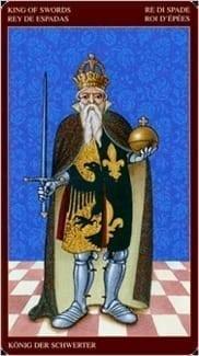 Карта Король Мечей из колоды Средневековое Таро