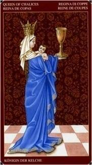 Карта Королева Чаш из колоды Средневековое Таро