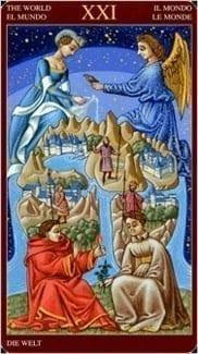 Карта Мир из колоды Средневековое Таро