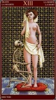 Карта Смерть из колоды Средневековое Таро