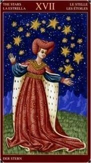 Карта Звезда из колоды Средневековое Таро