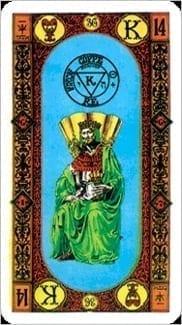Карта Король Чаш из колоды Ступени Золотого Таро