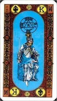 Карта Король Мечей из колоды Ступени Золотого Таро